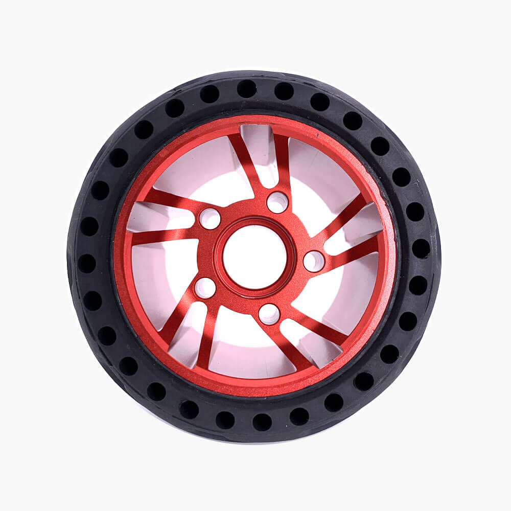 electric skateboard airless wheels boundmotor red