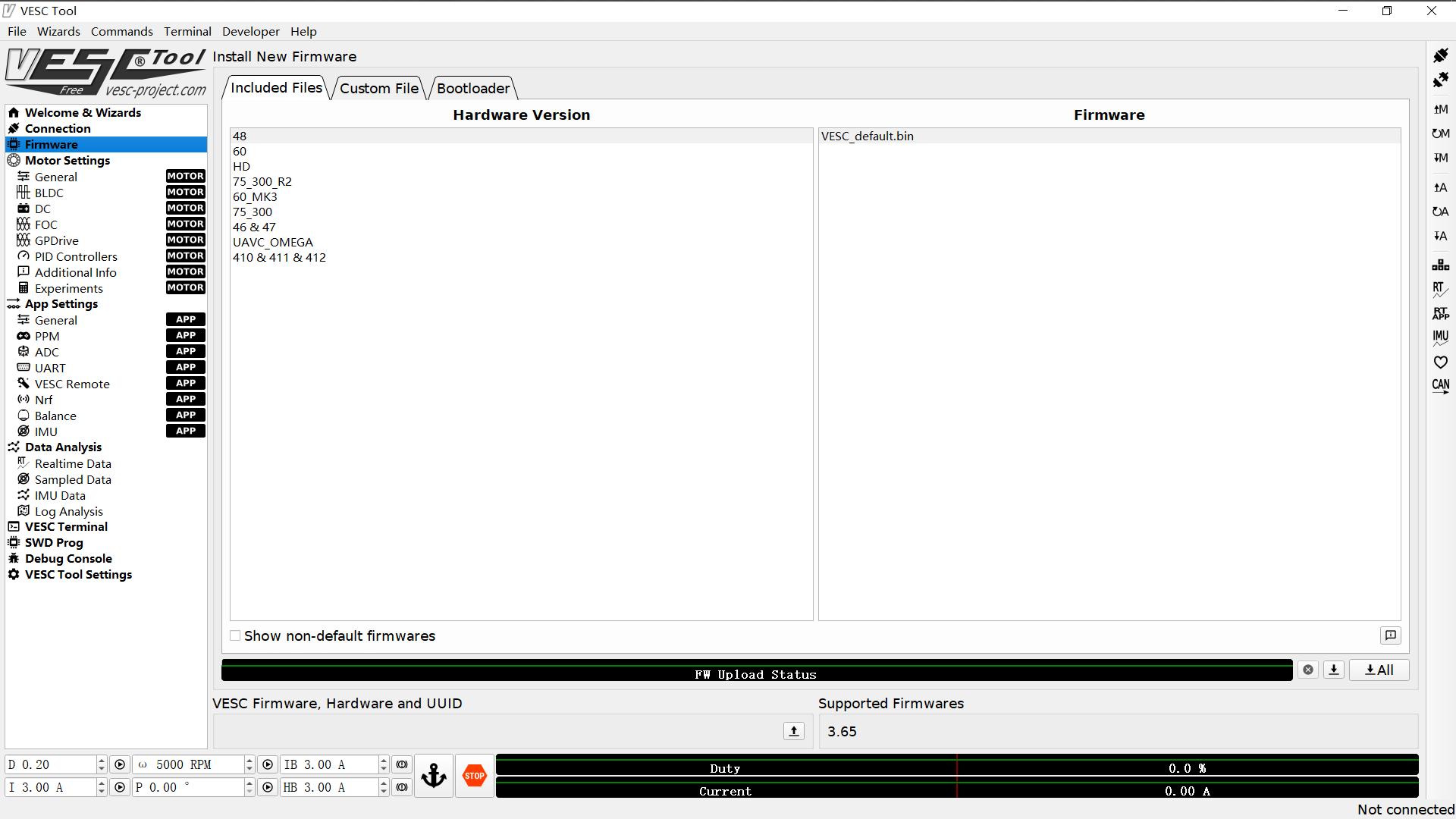 How to Downgrade VESC Firmware