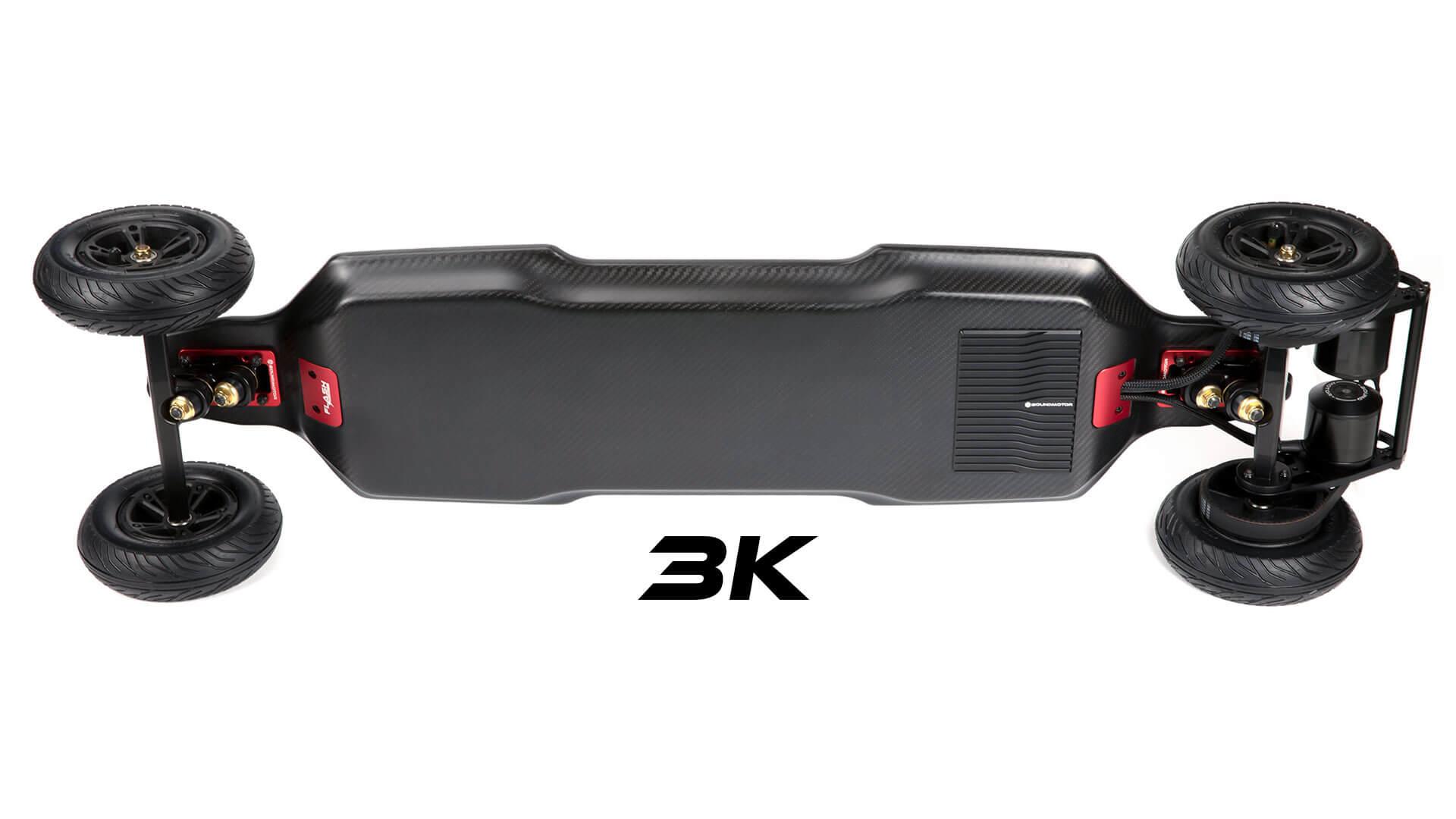 Bound Flash electric skateboard - 3k carbon fiber deck