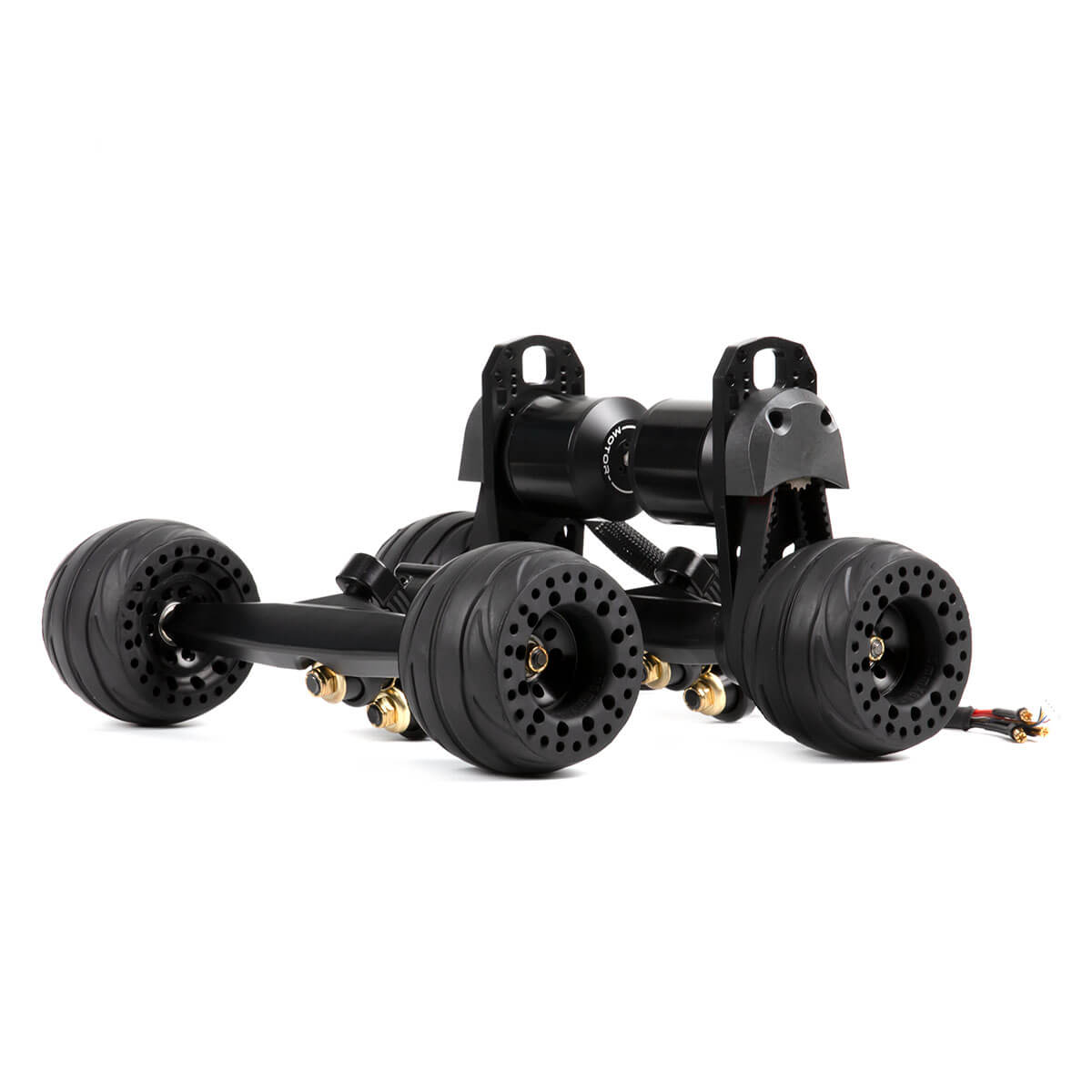 BOUNDMOTOR Belt Drive Motor Kit with 105mm airless wheels